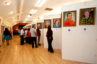 CHARITY PORTRAIT EXHIBITION NEWSPAPER PHOTO SELECTION